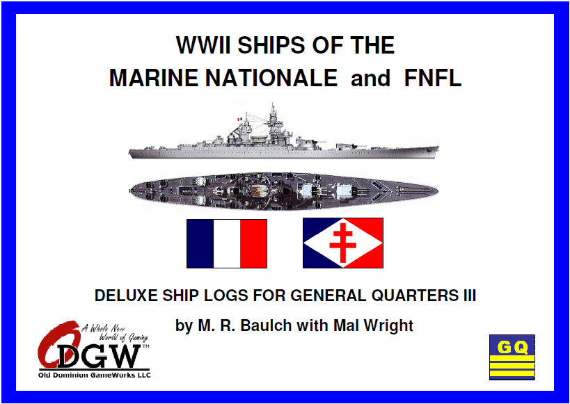 Marine Nationale (French Navy) Deluxe Ship Logs Now Available