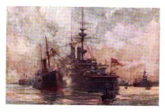 Coaling a battleship