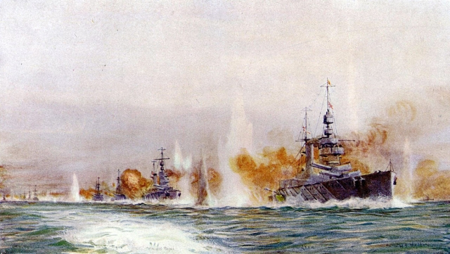 1 British Battle Cruisers opening fire Lionel Wylie